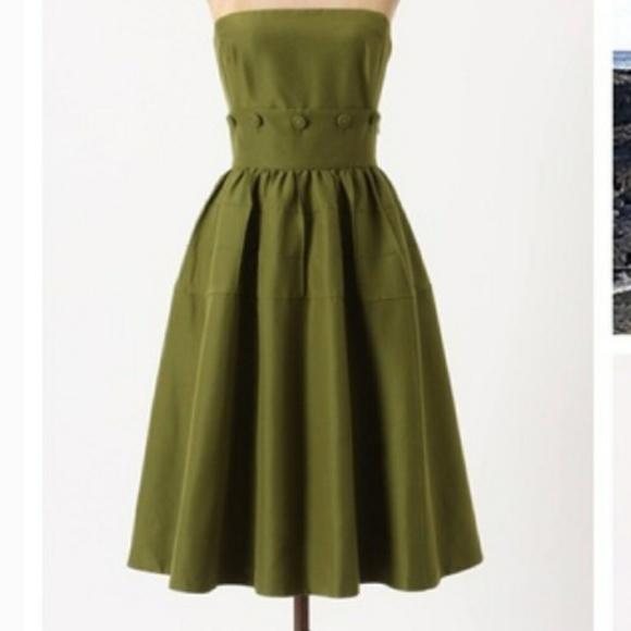 b7a29c510c4f0 Maeve Dresses & Skirts - Anthropologie Maeve Olive Green Dress Sz 12